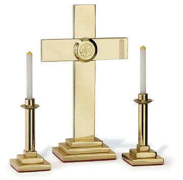 Solid Brass Miniature Altar Set with 7