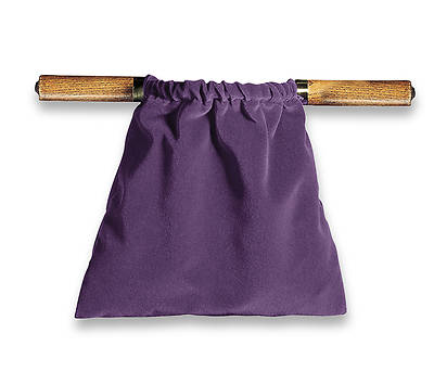 Artistic Purple Two-Handled Offering Bag