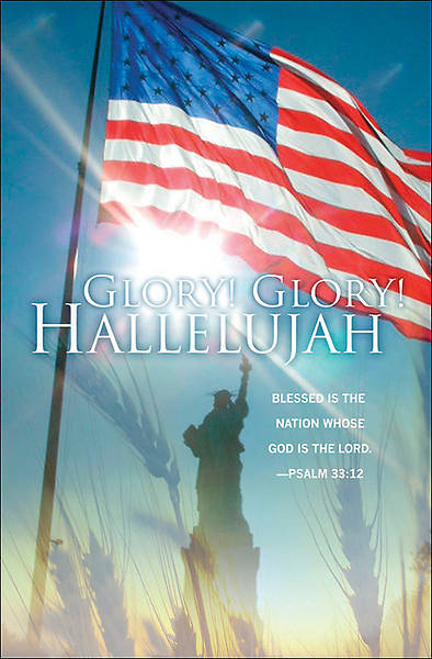 Glory Hallelujah, Patriotic Bulletins, Regular (Package of 100)