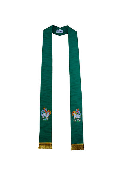 MDS Green Lamb of God Stole