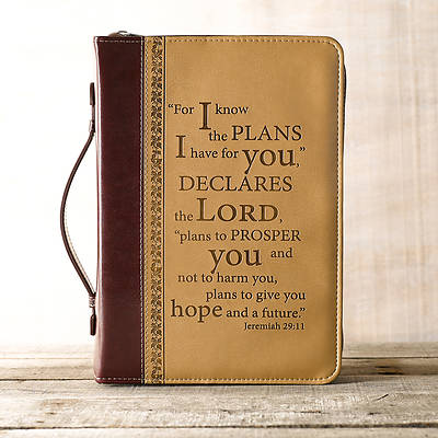 Picture of I Know the Plans LuxLeather Large Two-Tone Bible Cover
