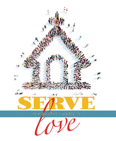 Serve One Another Humbly in Love General Legal Size Bulletin