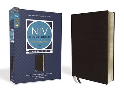 Picture of NIV Study Bible, Fully Revised Edition, Large Print, Bonded Leather, Black, Red Letter, Comfort Print