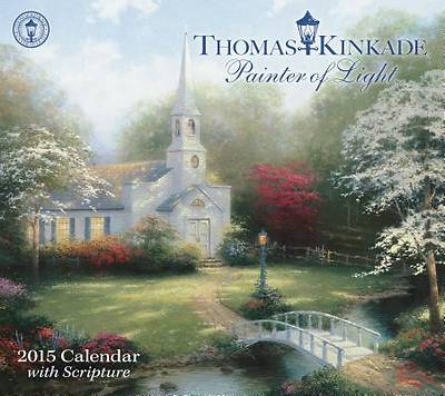 Picture of Thomas Kinkade Painter of Light with Scripture 2015 Deluxe Wall Calendar