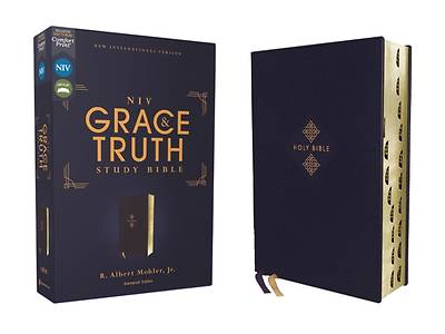 Picture of Niv, the Grace and Truth Study Bible, Leathersoft, Navy, Red Letter, Thumb Indexed, Comfort Print