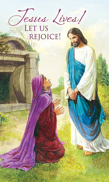 Picture of Jesus Lives! Let Us Rejoice! Easter 3' x 5' Fabric Banner