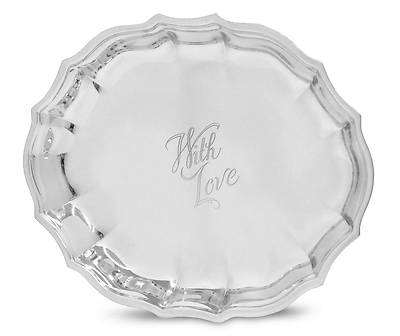 With Love Gift Tray - Silverplate