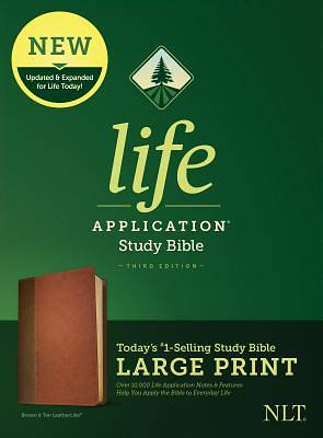 NLT Life Application Study Bible, Third Edition, Large Print (Leatherlike, Brown/Tan)