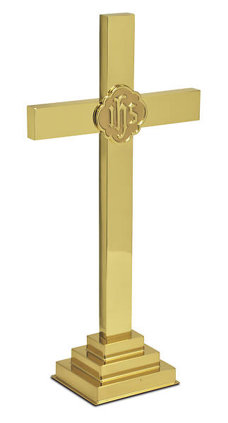 "Picture of 24"" BRASS ALTAR CROSS SATIN FINISH"