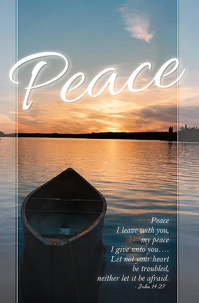 Funeral Bulletin Peace Regular (Package of 100)