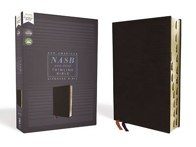 Picture of Nasb, Thinline Bible, Bonded Leather, Black, Red Letter Edition, 1995 Text, Thumb Indexed, Comfort Print