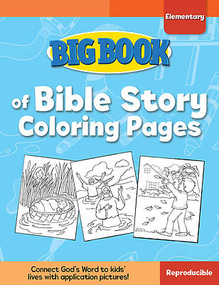 Picture of Big Book of Bible Story Coloring Pages for Elementary Kids