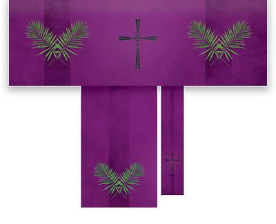 Picture of Passion Cross Economy 3-Piece Altar Set - Purple