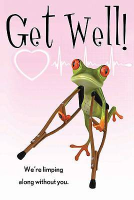 Get Well! Frog Postcard (Pkg of 25)