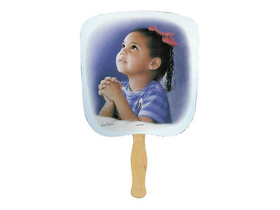 Child Praying Hand Fan - Pack of 50