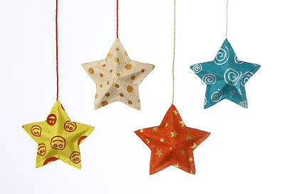 Paper Star Ornament - Various Colors and Designs