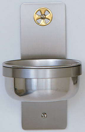 Picture of Koleys K349B Holy Water Font Stainless Steel