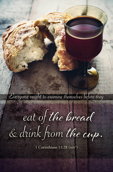 Picture of Eat of the Bread Communion Regular Size Bulletin (Pkg of 100)