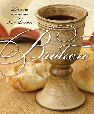 Broken/Communion Bulletin, Large Size (Package of 50)