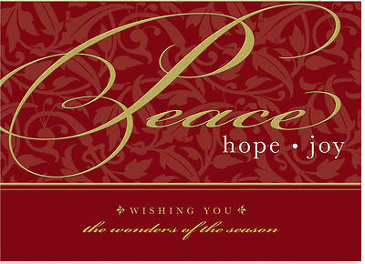 Peace Hope Joy Boxed Cards