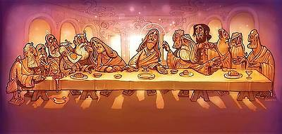 Station 2 Backdrop (Last Supper)