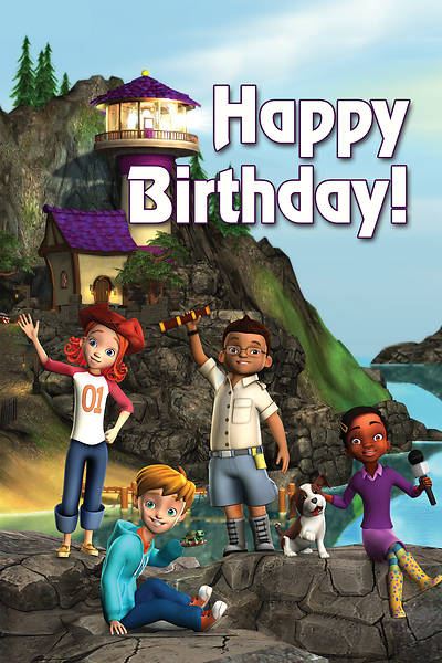 Picture of Deep Blue Kids Lighthouse Happy Birthday Postcard (Pkg of 25)