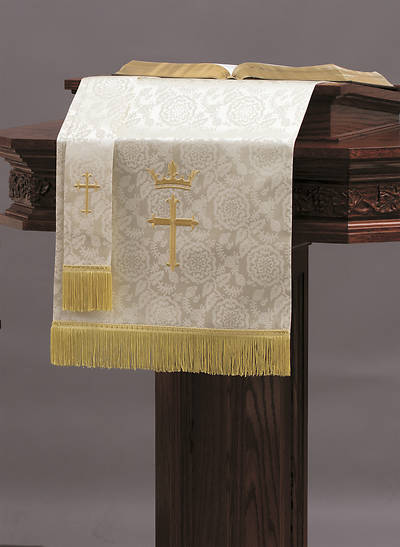 Picture of Abbott Hall TRN White Cross and Crown Two-Piece Parament Set