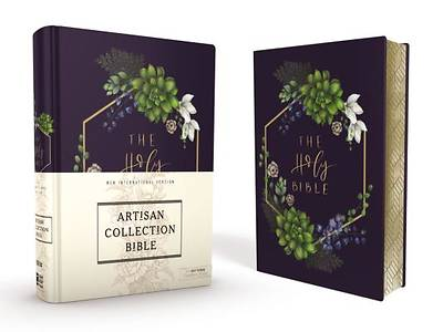 NIV Artisan Collection Bible, Navy Floral Design