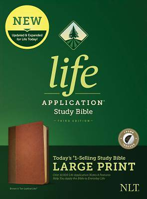 NLT Life Application Study Bible, Third Edition, Large Print (Leatherlike, Brown/Tan, Indexed)