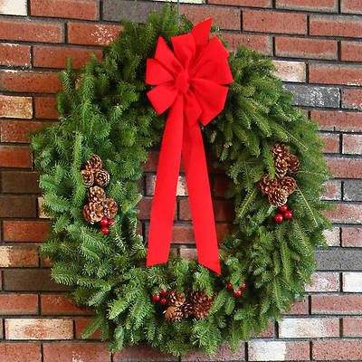 Fresh-Cut Balsam Christmas Wreath 36 Inch
