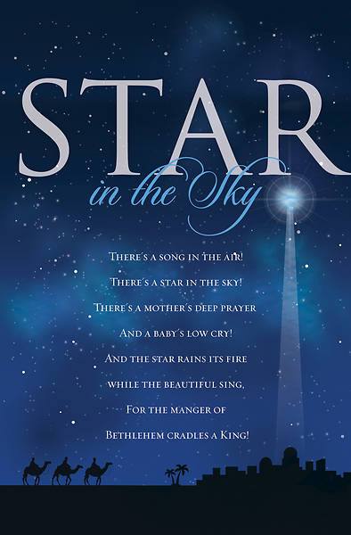 Star in the Sky Christmas Bulletin - Pack of 100