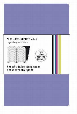 Moleskine Volant Notebook Ruled, Purple Pocket - Set of 2