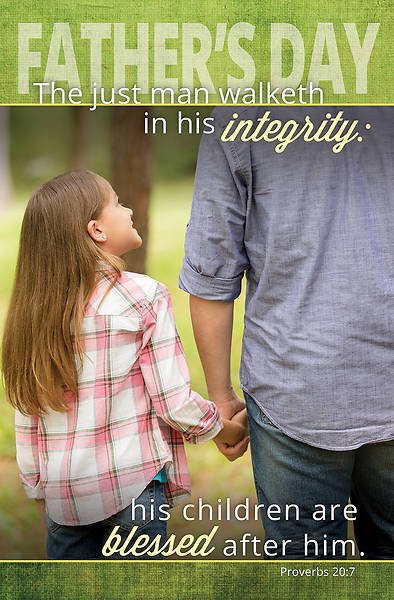 Fathers Integrity Fathers Day Regular Size Bulletin