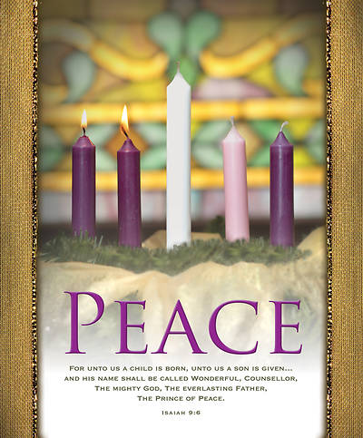 peace advent wreath legal size bulletin cokesbury. Black Bedroom Furniture Sets. Home Design Ideas