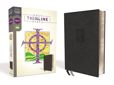 Picture of NRSV Thinline Bible, Leathersoft, Black, Comfort Print