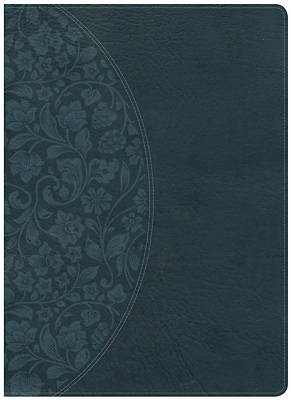 Picture of KJV Study Bible Large Print Edition, Dark Teal Leathertouch, Indexed