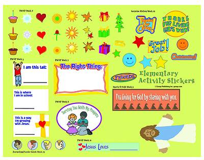 Picture of FaithWeaver Friends Elementary Activity Stickers PK5 Spring 2021