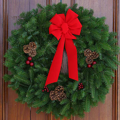Picture of Fresh-Cut Balsam Christmas Wreath 30 Inch