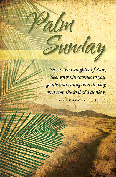 Palm Sunday/Matthew 21:5 Bulletin, Regular Bulletin (Package of 100)