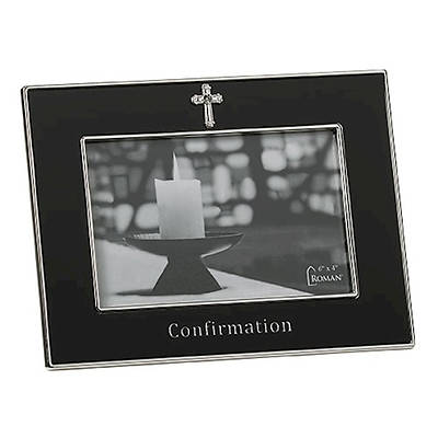 Picture of Confirmation Black Frame with Cross