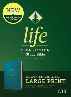 NLT Life Application Study Bible, Third Edition, Large Print (Leatherlike, Teal Blue)