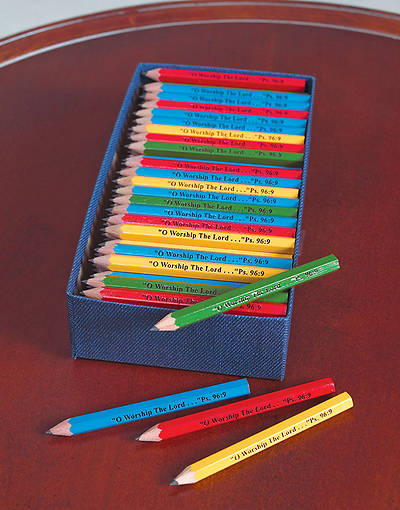 O Worship the Lord Pew Pencils Assorted Colors (Pkg 144)