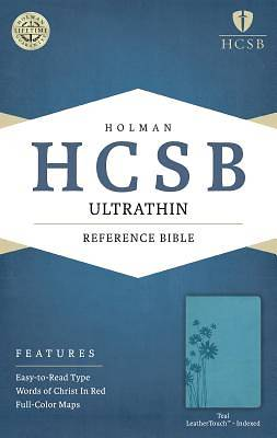 HCSB Ultrathin Reference Bible, Teal Leathertouch Indexed