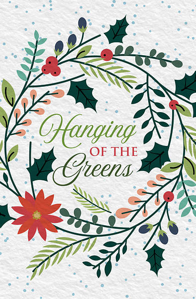 Hanging Greens Christmas Regular Size Bulletin