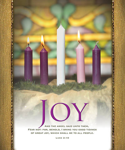 Joy Advent Wreath Legal Size Bulletin