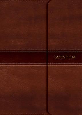 Picture of NVI Biblia Compacta Letra Grande, Marron Simil Piel Con Indice y Cierre