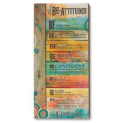 Teen Be-Attitude Plaque