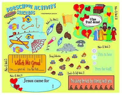Picture of FaithWeaver Friends Preschool Activity Stickers PK5 Spring 2021