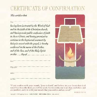 Contemporary Full-Color Confirmation Flat Certificate (Package of 12)