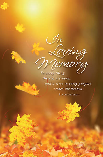 Picture of In Loving Memory Funeral Regular Size Bulletin